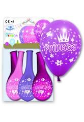 4 Balões Tamanho 12GP Princess Globolandia 5927