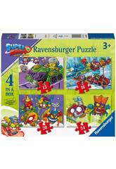 Pack 4 Casse-tête Superzings Ravensburger 3053