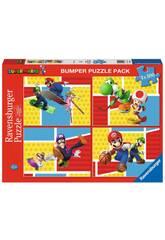 Super Mario Puzzle 4x100 Pieces Ravensburger 5195