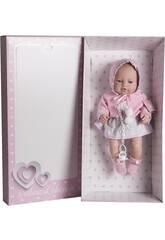 Muñeca Recién Nacida 42 cm. Chaqueta Punto y Vestido Berbesa 5104