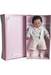 Muñeco Baby Dulzón Mulato 62 cm. Llorón Traje Azul Berbesa 8047