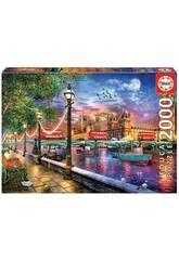 Casse-tête 2000 Londres au coucher du soleil Éduquer 19046