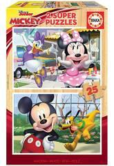 Casse-tête 2x25 Mickey & Friends Educa 18876