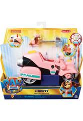 Paw Patrol The Movie Liberty y Vehículo Bizak 6192 7700