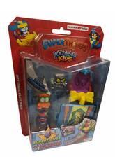 Superthings Kazoom Kids Blister 4 Figures Kazoom, Sliders et Rampe Magic Box PST8B416IN00