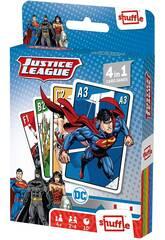 Baraja Infantil Shuffle 4 en 1 Justice League Fournier 10025071