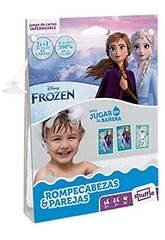 Kinder Karten Shuffle Aqua Frozen Puzzle und Fournier Partner 130012514