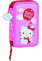 Plumier Doble Pequeño 28 Piezas Hello Kitty Balloon Safta 412016854
