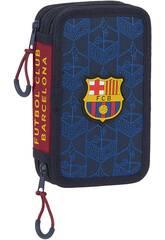 F.C. Barcelona Petite trousse à crayons double 28 pièces Safta 412125854