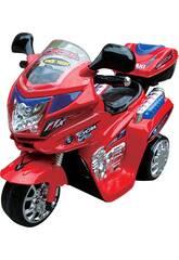 Motorrad zur Batterie 6.V Cycra mit Musik und Licht