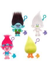 Trolls Pack 4 Super Peluches Chaveiro