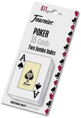 Jeu De Carte Pocker Anglais avec 54 Cartes Fournier 28545