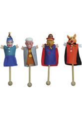 4 marionnettes avec bâton + 9 cartes des Marionnettes