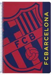 Quaderno a spirale con Copertina rigida 80 fogli F.C. Barcelona