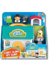 Clinique Vétérinaire avec personnages et accessoires