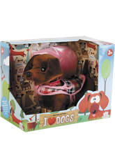 Cane Peluche che Cammina I Love Dogs