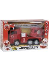 Vehículo Camión de Bomberos Con Luces y Sonidos 17x9x26cm