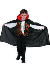 Disfraz Vampiro Rosas Niño Talla L