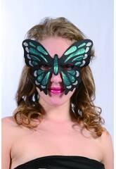 Antifaz Glitter Mariposa Verde