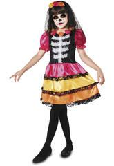 Disfraz S Niña Catrina Esqueleto