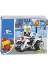 Jogo de Construção Mota de Polícia 27 Peças