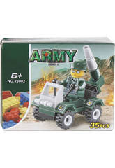 Coche Militar con Lanzacohetes de 35 piezas