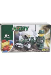 Jogo de Construção Veículo Militar com Figura 35 Peças