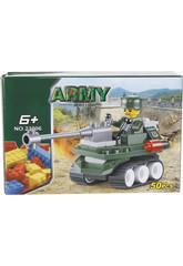 Jeu de Construction Véhicule Militaire avec Canon 50 pièces