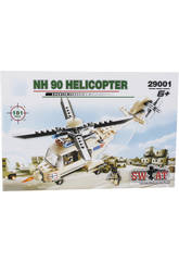 Jeu de Construction Hélicoptère Militaire NH 90 de 181 Pièces