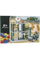 Bausatz Militärische Überwachungsposten mit Fahrzeug 164 Stück