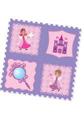 Tappeto Puzzle Eva Principesse 4 Pezzi