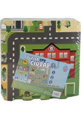 Tappeto Puzzle in Schiuma EVA 9 pezzi Città