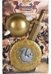 Set Vikings avec Casque, Bouclier et Épée