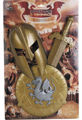 Set Espartano con Casco, Escudo y Espada