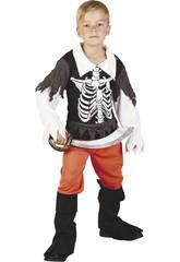 Maschera Pirata Scheletro Bambino Taglia XL