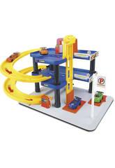 Estacionamento 2 Alturas com 4 Veículos de Brinquedo