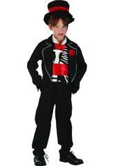 Disfraz Vampiro Esqueleto Niño Talla M