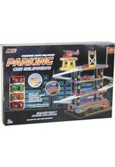 Parking 4 Alturas Con 4 Vehículos y 1 Helicóptero 45x20x50cm