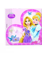 Princesas Glamour pack 20 guardanapos 33x33 cm.