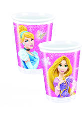 Princesses Glamour Pack 8 Verres 200ml.