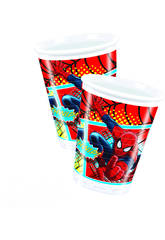 Spiderman pack 8 bicchieri 200 ml.