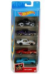 Hot Wheels Pack 5 Véhicules de jouets Mattel 1806