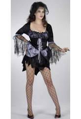 Fantasia Bruxa Aranha Negra Mulher Tamanho XL