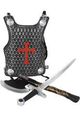 Set Médiéval avec Cuirasse, Épée et Hache