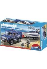 Playmobil Coche de Policía con Lancha 5187