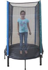 Tappeto elastico Blu 140 cm Ø x190 cm con rete