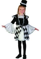 Disfraz Arlequina Niña Talla M