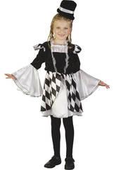 Disfraz Arlequina Niña Talla L