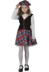 Disfraz Escocesa Niña Talla M