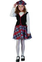 Disfraz Escocesa Niña Talla L